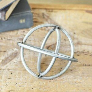 "Industrial 6"" Tin Sphere Decor"